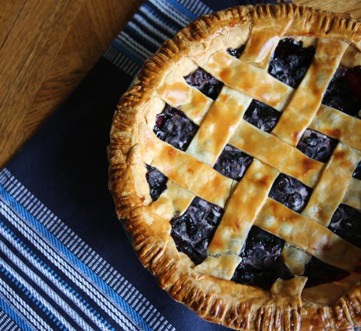 Alton Brown's Frozen Blueberry Pie Recipe