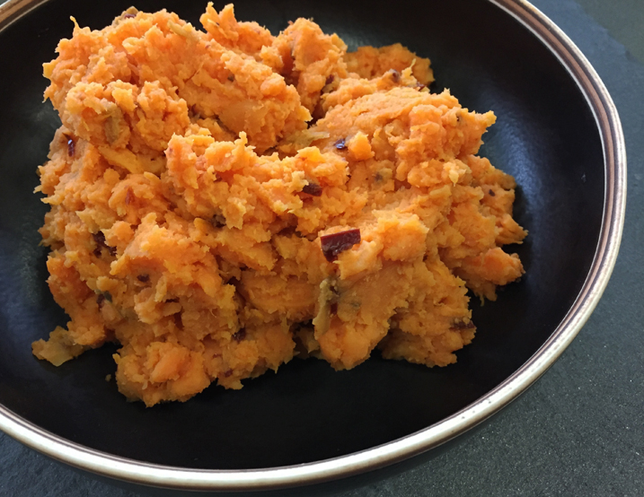 Chipotle Smashed Sweet Potatoes