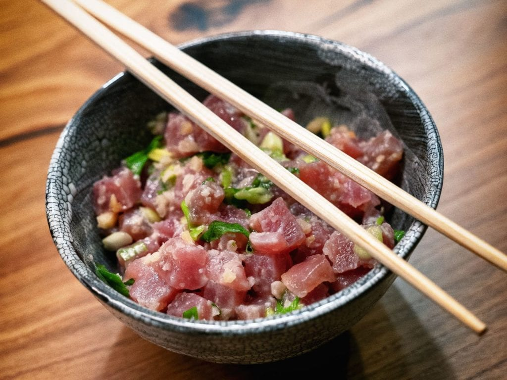 Ahi Tuna Poke from Good Eats: The Return