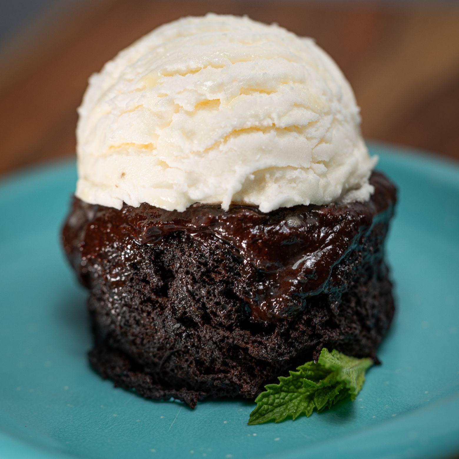 Double Chocolate Midnight Mug Cake For 2 Recipe Alton Brown